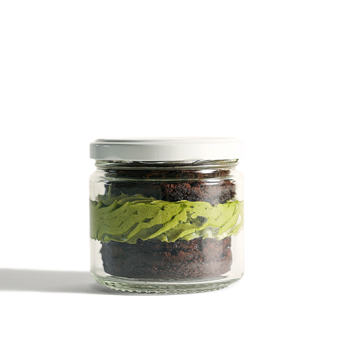 Ceremonial Cacao Grain-Free Brownie Jar w/ Matcha Frosting